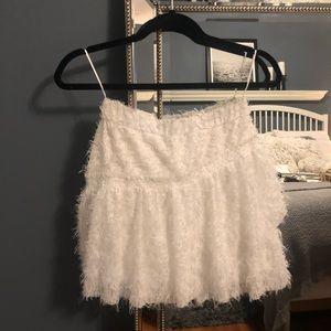 Zara White Mini Skirt.